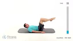 تمرین پیلاتس برای شکم و باسن