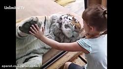 کودکان شاد و بانمک در باغ وحش