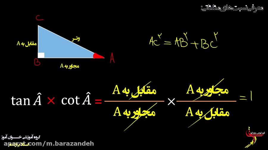 معرفی-نسبت-های-مثلثاتی-تدریس-خوان-آموز