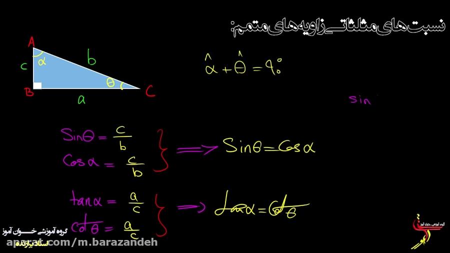 نسبت-های-مثلثاتی-زاویه-ی-متمم-تدریس-خوان-آموز