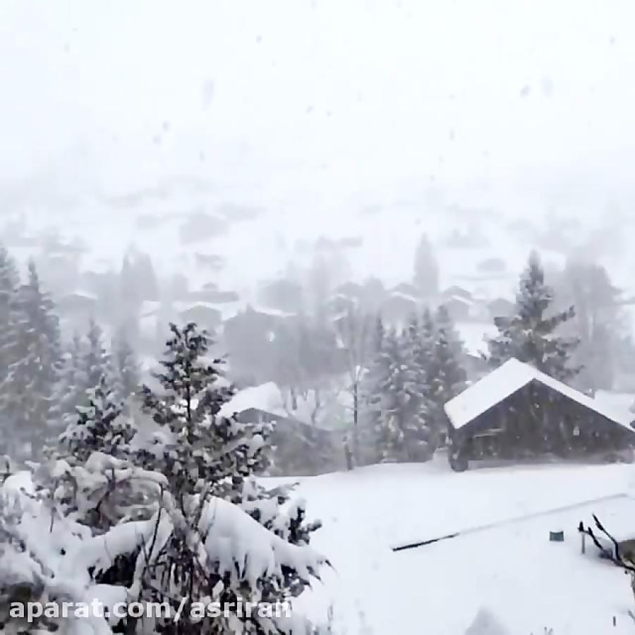 دانه های برف در سوئیس