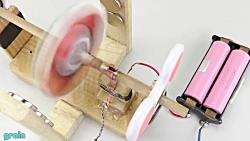 ساخت موتورالکتریکی پرسرعت با اسپینر!!