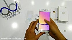 جعبه گشایی گوشی سامسونگ Galaxy C8 - فروشگاه موبایل آبی