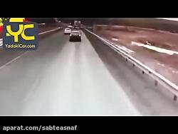 تصادف فوق العاده وحشتناک فجیع ماشین با کامیون