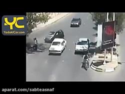 تصادف وحشتناک ماشین با موتور