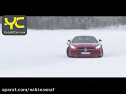 دریفت دیدنی مرسدس بنز روی برف