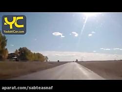 سرعت زیاد و تصادف وحشتناک دو خودرو در روسیه