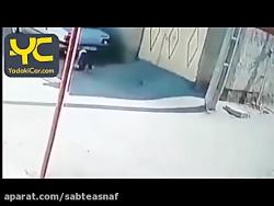 شانس آورد ماشین با بچه تصادف نکرد کمی تا مرگ فاصله داشت