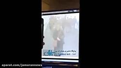 لحظه انفجار در متروی نیویورک