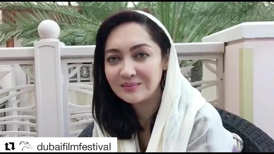 نیکی کریمی در جشنوارهٔ فیلم دوبی از فیلم آذر میگوید
