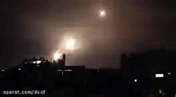 موشکباران شهرهای اسرائیل توسط نیروهای مقاومت فلسطینی