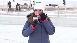 اتفاق عجیب برای خبرنگار زن قبل از شروع پخش زنده!!