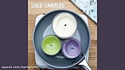 ۲روش استفاده دوباره از شمع های قدیمی