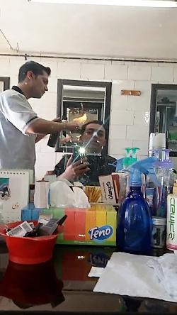 اولین کوتاهی مو کراتینه ویتامینه ورنگ ساژ با شعله مستقیم در شیراز شماره 09383619