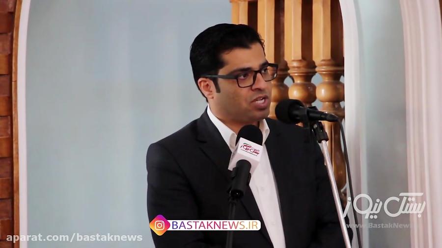 سخنان آل عبایی شهردار بستک پیش از نماز جمعه