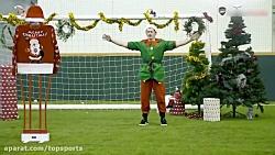 چالش جالب بازیکنان آرسنال به مناسبت کریسمس