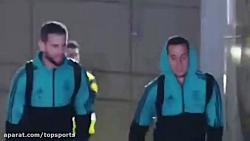 بازیکنان رئال مادرید آماده برای ال کلاسیکو