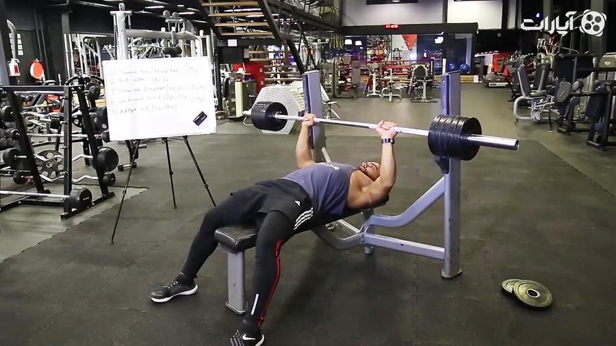 برنامه تمرین نیمه حرفه ای برای عضلات سینه