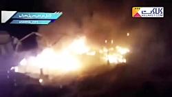 آتش سوزی در چادرهای مردم زلزله زده سرپل ذهاب
