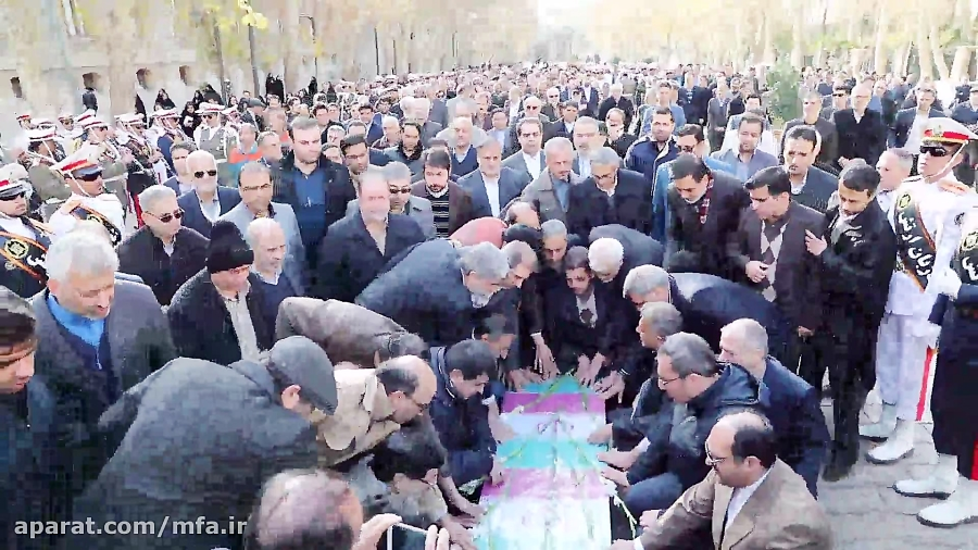 تشییع پیکر جانباز شهید وزارت امور خارجه