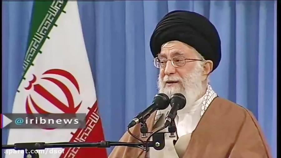 سخنان رهبری در مورد آقای روحانی و احمدی نژاد.