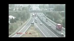 تصادف دلخراش دو کامیون