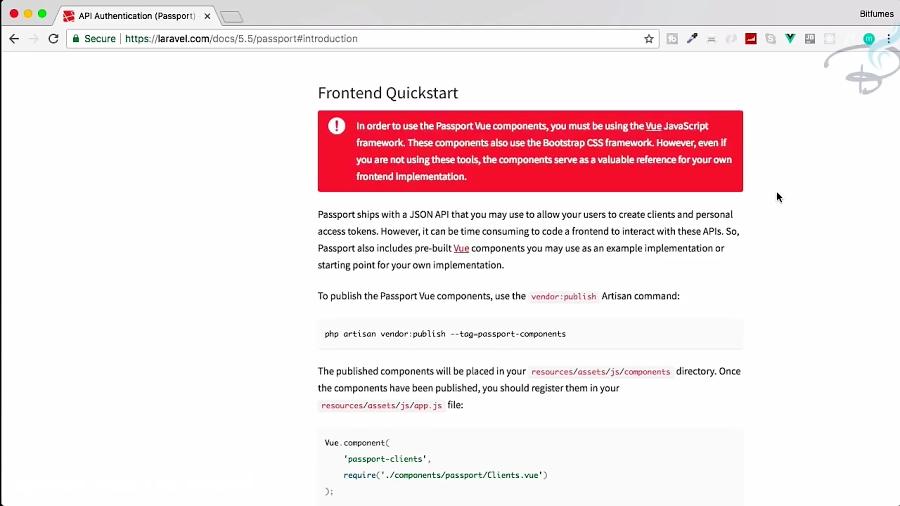 Laravel Passport | Frontend Quickstart | OAuth 2 0 | #3