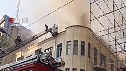 فوری/نجات دو نفر از آتش ...