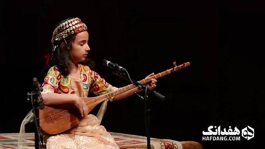 تکنوازی تماشایی تنبور دختر کوچولویی از دالاهوی کردستان