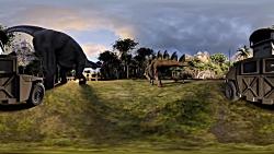 فیلم 360 درجه فیلم دایناسور ها ( مخصوص عینک یا هدست واقعیت مجازی