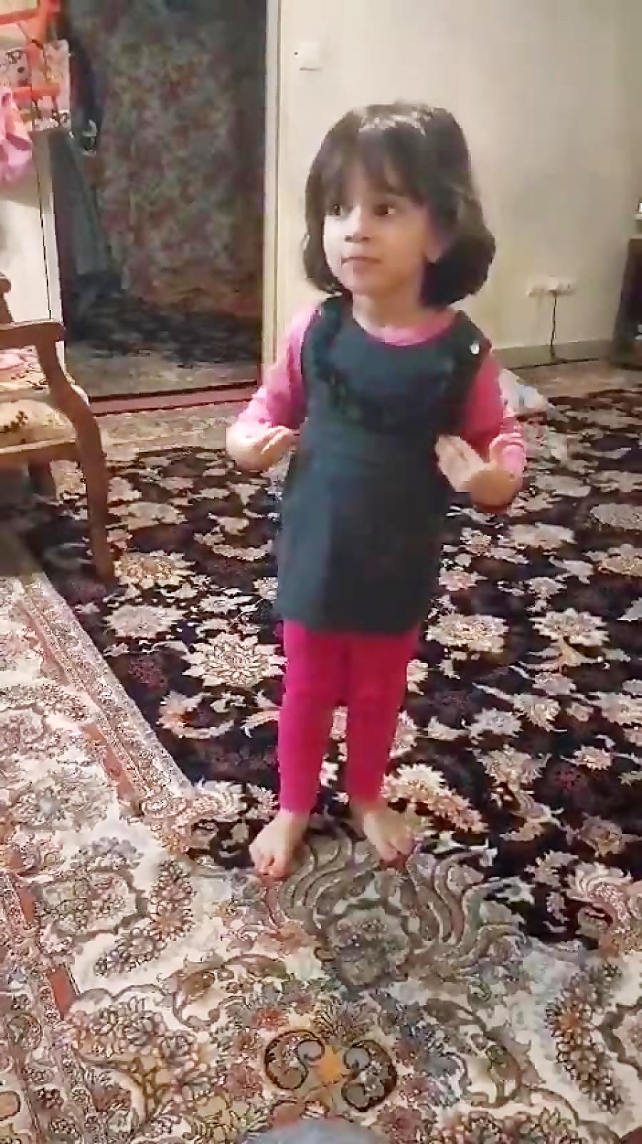 رقص زیبای دختر 3 ساله