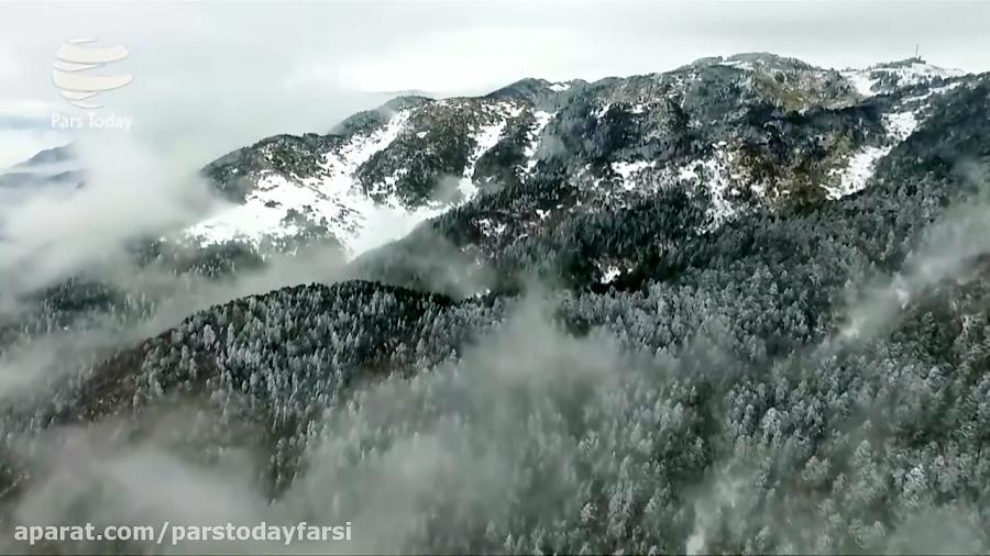 طبیعت زیبای برفی در چین