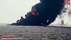 فیلم لحظه غرق شدن نفتکش ایرانی
