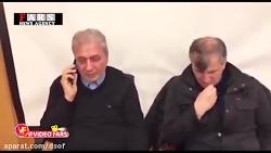 گریه شدید وزیر کار حین ...