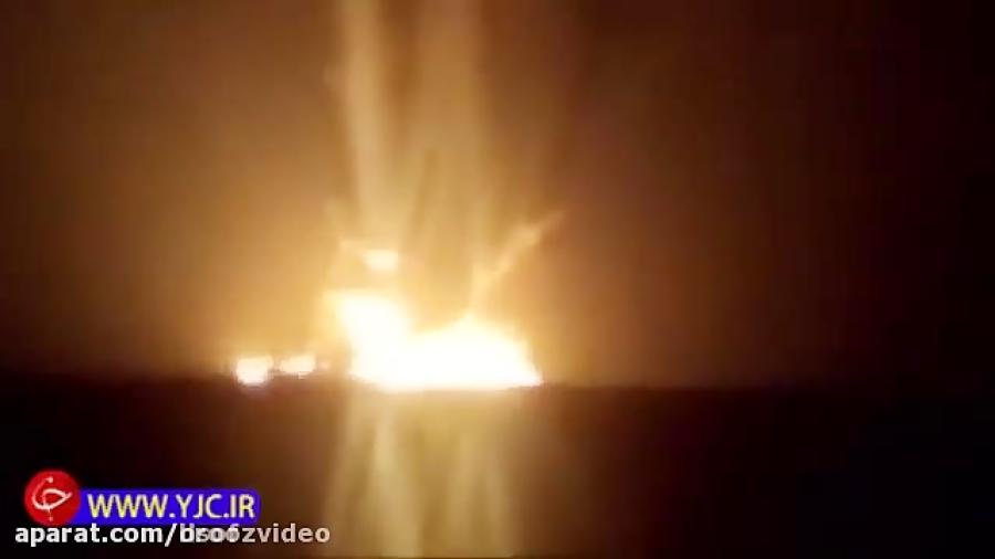 اولین فیلم از لحظه انفجار نفتکش ایرانی در آب های چین