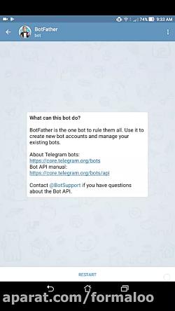 آموزش ایجاد ربات تلگرام و توکن اختصاصی با botfather