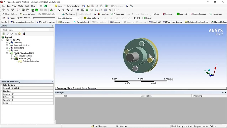 Analysis of Flange Coupling in ANSYS Workbench
