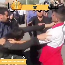 دعوا درگیری بین هلال احمر و مردم زلزله زده کرمانشاه!!