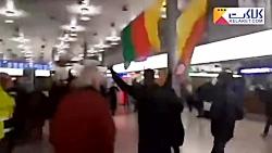 درگیری مخالفان و موافقان اردوغان درفرودگاه هانوفر آلمان