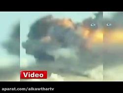 بمباران عفرین در شمال غرب سوریه توسط جنگنده های ترکیه