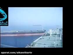 لحظه برخورد نفتکش سانچی با کشتی فله بر چینی