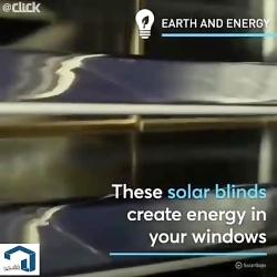پرده های آفتاب گیری که می توانند نور خورشید را جذب کنند و آن را به انرژی الکتریک