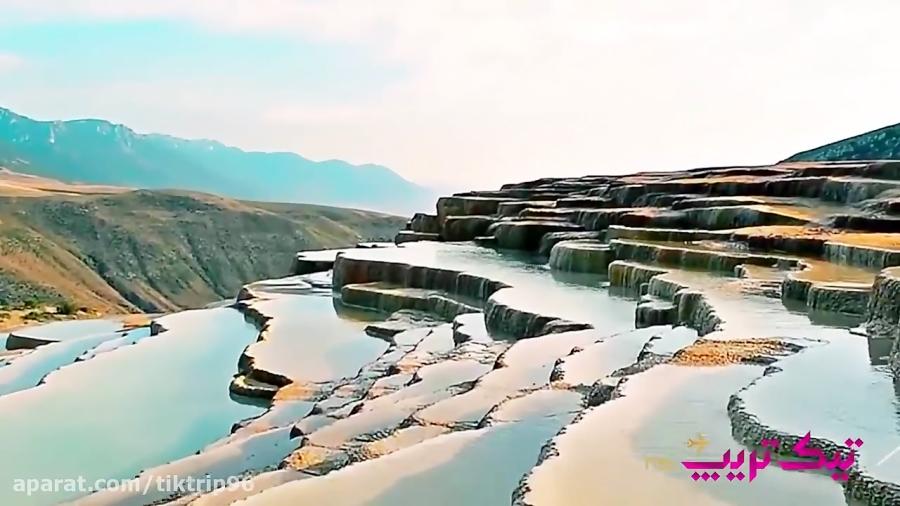 چشمه پلکانی باداب سورت - دومین چشمه آب شور جهان