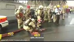 اولین لحظات آتش سوزی پلاسکو به روایت آتش نشانان در صحنه