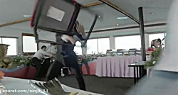 مبارزه جکی چان در کشتی تفریحی در فیلم همیشه اژدها