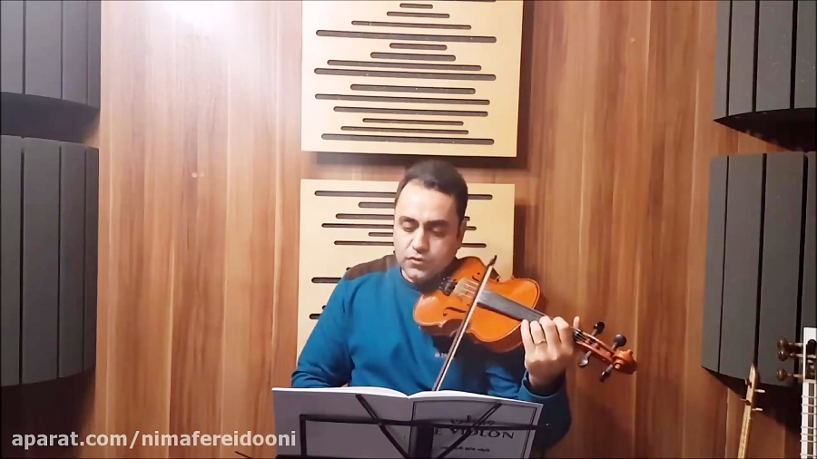 فیلم آموزش تمرین ۱۶۵ و ۱۶۶ ویولن کلاسیک کتاب لویولن ۳ le violon جلد سوم ایمان ملکی