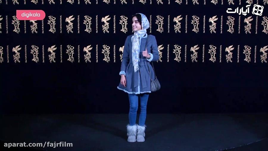 الهه حصاری روی فرش قرمز جشنواره فیلم فجر