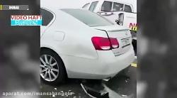 ویدیویی از لحظه تصادف زنجیره ای در ابوظبی