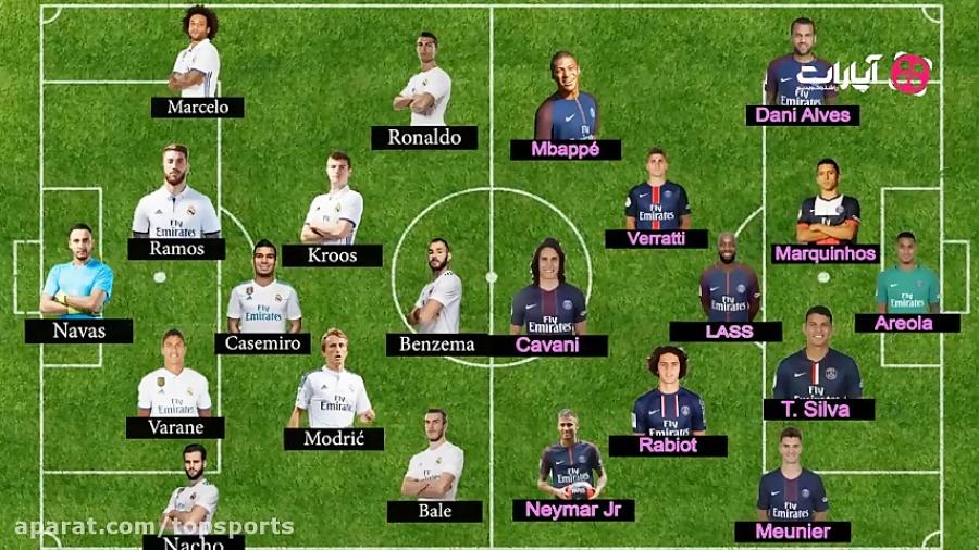 ترکیب احتمالی بازی رئال مادرید - پاری سن ژرمن