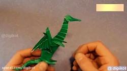 هنر و کاردستی با کاغذ-دایناسور کاغذیی